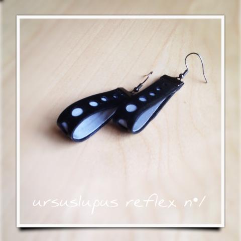 Ursuslupus - Bicikli gumibelsőből készített fülbevaló, Meska