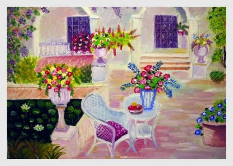 kert festmény