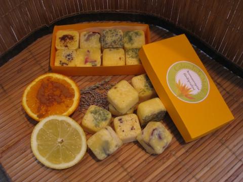 Calendulamuhely - Aromaterápiás fürdőkocka csomag, Meska