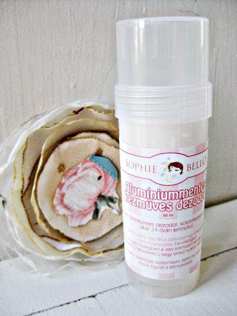 Sophiebello - Rózsa-vanilia illatú alumíniummentes kézműves dezodor, Meska