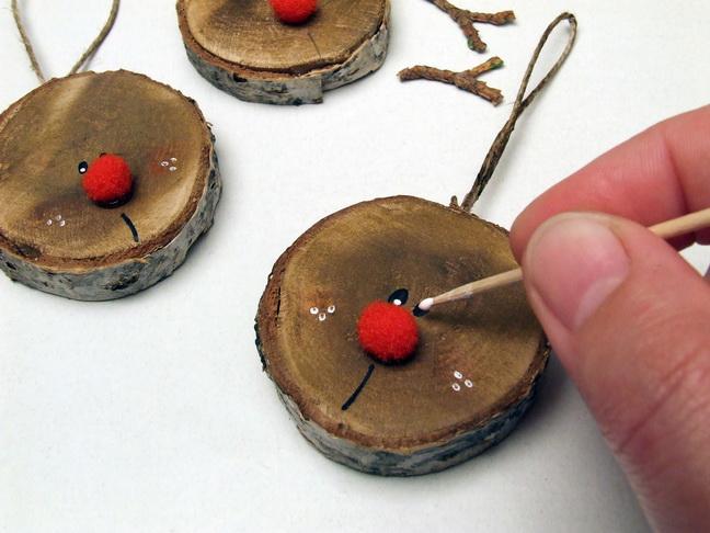 Lornorcera - Rudolf, a piros orrú rénszarvas elkészítése, Meska