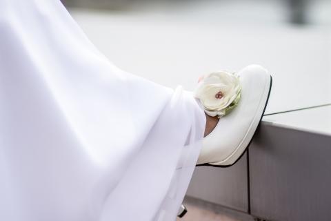 Gemma - Púder bokréta cipőklipsz, Meska