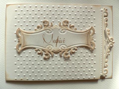 Papirosbolt - Vintage esküvői meghívó, Meska