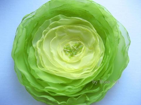 byRosaArt - Saláta virág kitűző, Meska