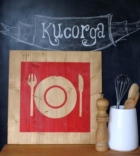 Kucorga - Étterem táblakép a Meska weboldalán