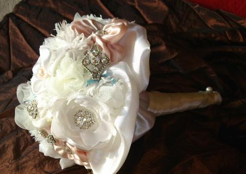 Suci - Vintage menyasszonyi csokor, Meska
