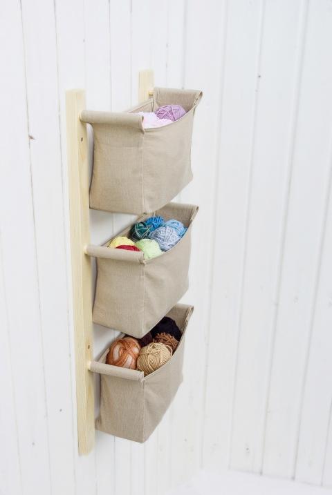 textil fali tároló