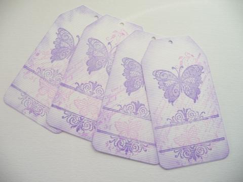 Eszter139 - Lila pillangós ajándékkísérő, Meska