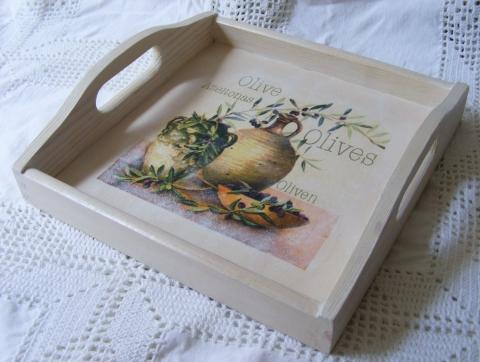 Blansch - Provencei stílusú olívás tálca, Meska