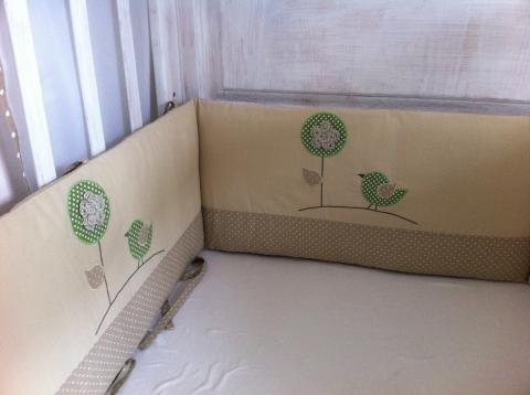 NoaNoa - Egyedi applikált rácsvédő babaágyba