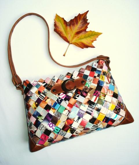 Kunbea - Divatmagazinokból készült táska, Meska