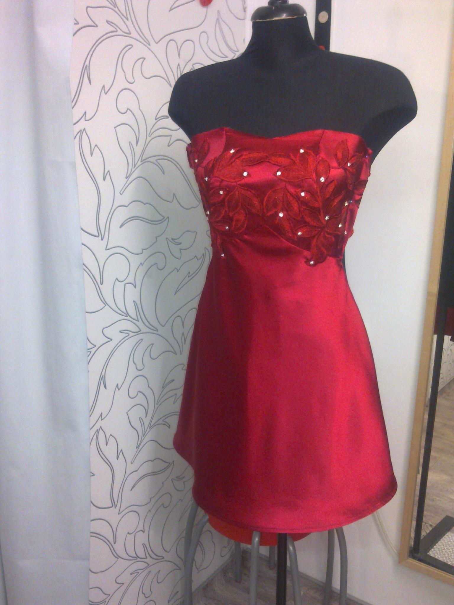 Vagi78 - Meggypiros újasszony ruha a34af5a97a