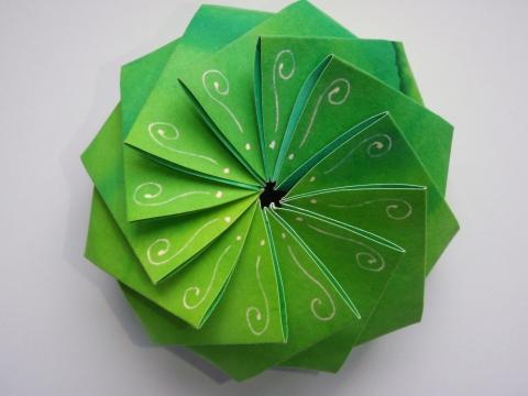 Andidea - Különleges zöld papírdoboz, Meska