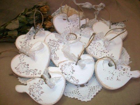 Vmorsy - Vintage szívek esküvői dekoráció, Meska