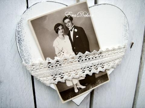 Eradekor - Vintage fényképtartó szív, Meska