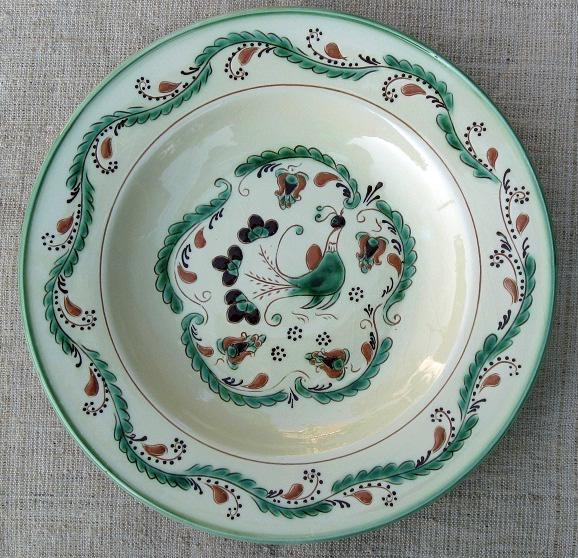 Szilke: Tiszafüredi pávás tányér (tulipános)