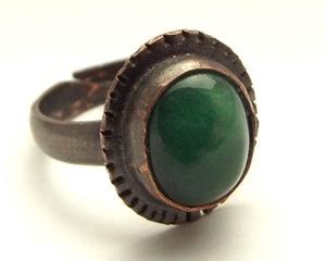 Malachit gyűrű