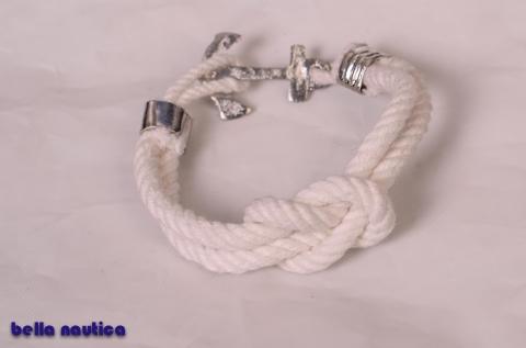 beata26 - Bella nautica fehér karkötő, Meska