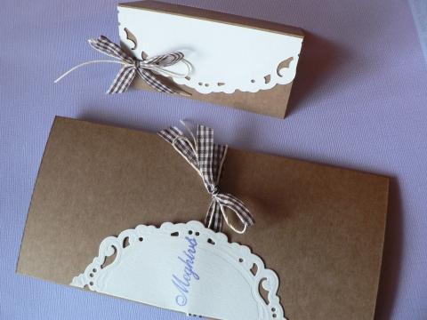 Papirosbolt - Natúr, egyszerűség levendulával-esküvői meghívó, Meska