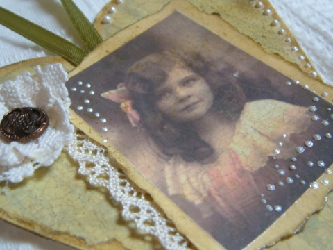 Oribori - anyák napi vintage szív, Meska