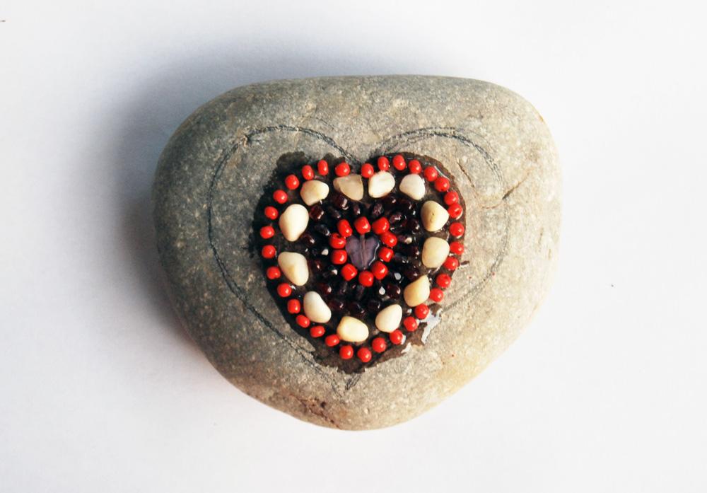 Mozaik szív készítése, Meska workshop