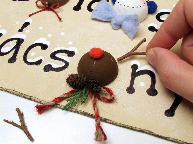 Lornorcera - Boldog Karácsonyt!  bejárati ajtódísz készítése, Meska