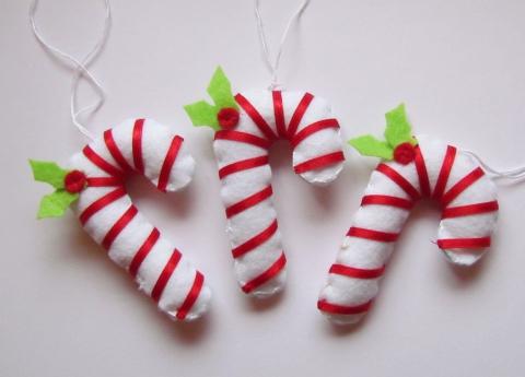 Vikuszi - Filc karácsonyi cukorpálcák, Meska