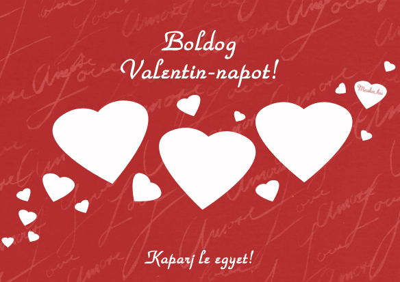 Boldog Valentin-napot! kaparós sorsjegy, Meska