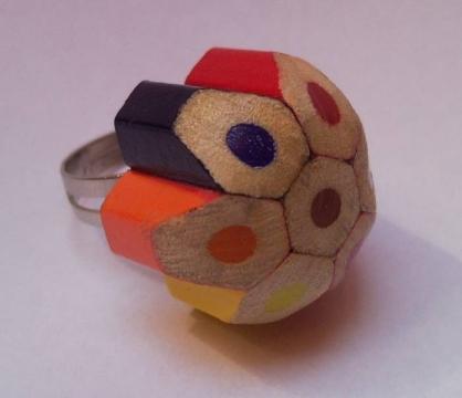 Tarshman - Színes ceruza gyűrű, Meska