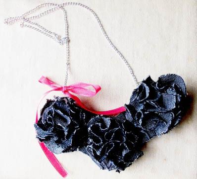 Barbiebaba - Farmer rózsás nyaklánc, Meska