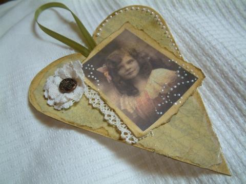 Oribori - Vintage szív, Meska