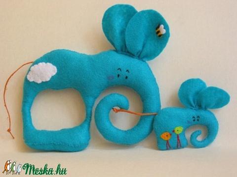 Együtt mókásabb!- Elefántok, Baba-mama-gyerek, Játék, Otthon, lakberendezés, Játékfigura, Filc anyagból készültek, ezek a saját tervezésű, kézzel készített bájos elefántok. Mókás játék kicsi..., Meska