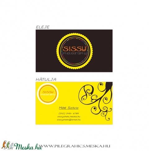 Sissy   digitális, kétoldalas névjegykártya design, Képzőművészet, Illusztráció, Grafika, Vegyes technika, *Sissy*  digitális, kétoldalas névjegykártya design, szabványos, 9x5 cm méretre tervezve.  Szi..., Meska