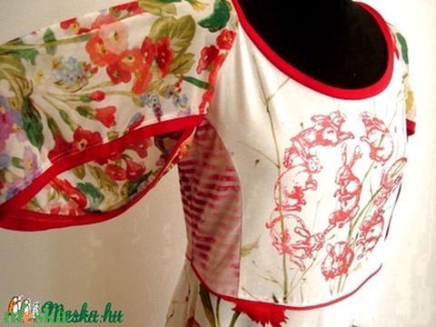 Nyulas virágoskert ruha (psycat) - Meska.hu