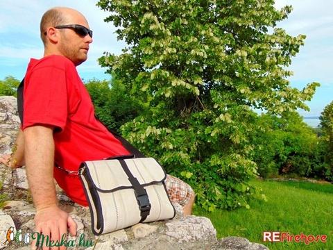 Tűzoltó tömlő válltáska kézi táska laptop táska - újrahasznosított uniszex dizájn mindennapos használatra (Trashman) - Meska.hu