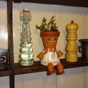 Konyhai cserépbaba, Dekoráció, Otthon, lakberendezés, Dísz, Kaspó, virágtartó, váza, korsó, cserép, Festett tárgyak, Lepd meg ismerőseidet egyedi készítésű cserépbabával, különféle díszítésekkel. Hangulatossá tehetjü..., Meska