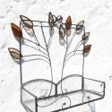 Életfa-falra akasztható üveg mécsestartó, Magyar motívumokkal, Dekoráció, Otthon, lakberendezés, Gyertya, mécses, gyertyatartó, Fémmegmunkálás, Üvegművészet, Mely lehetne a kovácsoltvas kistestvére is akár.Az alja áttetsző armstrong üvegből készült,melyet m..., Meska