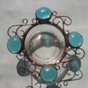 Tiffany-4 csepp víz-a föld színei mécsestartók, Otthon, lakberendezés, Dekoráció, Gyertya, mécses, gyertyatartó, Ünnepi dekoráció, Fémmegmunkálás, Kinek dinamikát,örvénylő,lüktető erőt,s kinek nyugalmat,elmélyülést és relaxálást segítik ezek a kis..., Meska