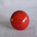 Piros kerámia gyűrű, Ékszer, óra, Gyűrű, Ékszerkészítés, Kerámia, kerámiagyűrű állítható gyűrűalappal A kerámiadísz átmérője kb. 2.5 cm, Meska