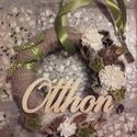 OTTHON - tavaszi AJTÓDÍSZ -KÉSZTERMÉK, Dekoráció, Otthon, lakberendezés, Dísz, Utcatábla, névtábla, Virágkötés, Mindenmás, Szerettem volna valami természethez közeli, letisztult, szolid, nyugtató látványt biztosító ajtódís..., Meska