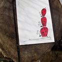 Nagyfarú katicák , Dekoráció, Naptár, képeslap, album, Kép, Képeslap, levélpapír, Festészet, 15x10,5 cm eredeti akvarell kép. (Képeslap méret.) Kartonok közt, gondosan csomagolva postázom.  Mi..., Meska
