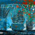 estii virágok , Dekoráció, Képzőművészet , Otthon, lakberendezés, Kép, Fotó, grafika, rajz, illusztráció, Kis peldanyszamban nyomtatott reprodukcio. A4-es papiron. dedikalva. kemeny karton kozott postazom ..., Meska