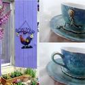 """""""Nimes"""" - PROVENCE -Blue stílus! Vintage rustic., Képzőművészet , Konyhafelszerelés, """"Nimes"""" PROVENCE -Blue stílus*  *** Provence Fashion *** (Exkluzív darab)  Valóban egyedi, megisméte..., Meska"""