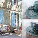 """""""Nimes"""" - PROVENCE -Blue stílus!, Képzőművészet , Konyhafelszerelés, """"Nimes"""" PROVENCE -Blue stílus*  *** Provence Fashion *** (Exkluzív darab)  E bögre alkotás névadója:..., Meska"""