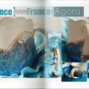 Blue bird II.rész , Képzőművészet , Konyhafelszerelés, *Blue bird II. - Kék madár II.* - Baroque/Vinatge/Provence Design -  Kézzel készült, egyedi (festmén..., Meska