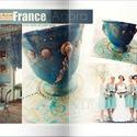 Peace of mind II.- Festmény a bögrén képzőművészeti  alkotás!, Dekoráció, Képzőművészet , *Peace of mind II. - Szellemi béke II.* - Baroque/Vinatge/Provence Design -  Kézzel készült, egyedi ..., Meska