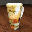 Cappuccinós vagy teás bögre művészi designnal, Képzőművészet, Konyhafelszerelés, Festmény, Bögre, csésze, Festészet, Mindenmás, 4 dl-es, nagyméretű porcelán bögrék készülnek a festményeim alapján. Minden darab jelzett, rajta a ..., Meska