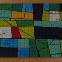 Puzzle - Absztrakt festmény a kirakón, Dekoráció, Férfiaknak, Játék, Képzőművészet, Minden korosztály számára jó szórakozást jelentő kirakós játékok, puzzle-k készülnek a f..., Meska