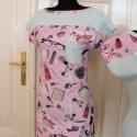 Vintage-pasztell  ruha AKCIÓ, Ruha, divat, cipő, Női ruha, Ruha, Varrás, Egyszerű, letisztult szabásvonalú vintage-matróz stílusú ruha. Anyaga: az egyszínű rész pamut, a min..., Meska