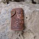 Bőr kulcstartó, Mindenmás, Kulcstartó, Bőrművesség, Marhabőrből készült, festett, lakkozott, kézi varrású kulcstartó.   Kérésre más mintával is elkészí..., Meska